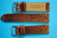 Vintage Rustika vegetabiles Leder 22mm biologisch gegerbt handgenäht