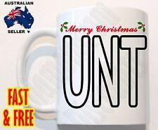 Merry Christmas UNT Novelty Rude COFFEE MUG CUP Tea xmas Gift funny naughty