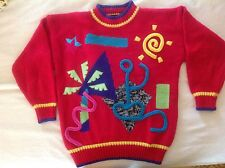 UGLY SWEATER Adrian Spencer vintage fun - palm tree and ocean theme