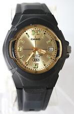 Casio MW-600F-9AV Analog Watch Gold 10 Year Battery Glows Display with Date New