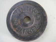 "York 5 # barbell 1"" hole"