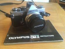 Olympus OM-2n Camera / Zuiko 50mm 1.8 lens / New Light Seals / fresh batteries