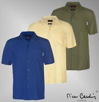 Mens Branded Pierre Cardin Lightweight Viscose Top Short Sleeve Shirt Size S-3XL