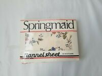 Vintage Springmaid Flannel Floral 1 Twin Flat Sheet New