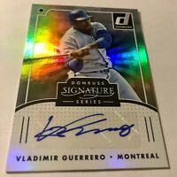 VLADIMIR GUERRERO CERTIFIED AUTO 2016 DONRUSS SIGNATURE SERIES & RC LOT (4)