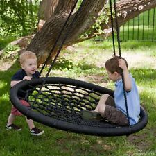2 Person Giant Kids Outdoor Garden Nest Rope Disc Swing Tree Spider Net Mesh Toy