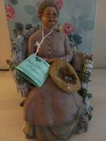 "DCC 1999 ""Gran"" Mother Nature 8"" #52-3321 Garden Figurine Cat bird Flowers"