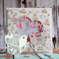 Baby Crib Metal Cutting Dies DIY Stamps Die Cut Embossing Card Making Stencil