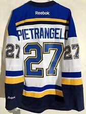 Reebok Premier NHL Jersey Saint Louis Blues Alex Pietrangelo White sz S