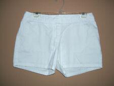 Caslon Short Shorts w/ Pockets 10 White Chino Cotton Front Zip
