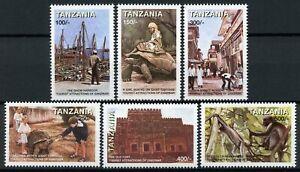 Tanzania Stamps 1998 MNH Zanzibar Tourist Attractions Tortoises Monkeys 6v Set