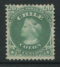 Chile 1867 20c green Columbus unused with no gum