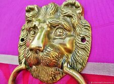 Heurtoir ancien frapper Tete de lion bronze Italie. Antique door knock knock