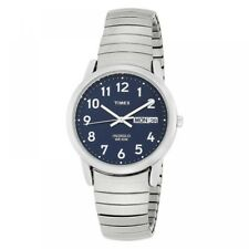 Timex Mens T20031 Quartz Easy Reader Watch With Blue Dial Analogue Display and