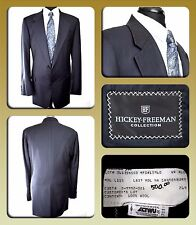 HICKEY FREEMAN 44 XLG 2 Button Wool Black Pinstripe Blazer/Sports Jacket $500.00