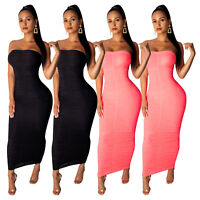 Sexy Women Boat Neck Off Shoulder Strapless Draped Bodycon Clubwear Party Dress