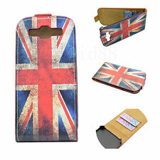 Union Jack Style Hard Back Case Leather Cover For Samsung Galaxy S3 S III i9300