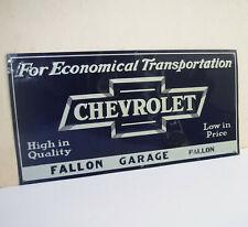 "ORIGINAL NOS 1920s Chevrolet 12x24"" Metal DEALER SIGN 1921 22 23 24 25 26 27 28"