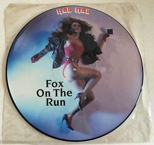 "RARE VINYL 12"" PICTURE DISC MAD MAX FOX ON THE RUN 1986 ROADRUNNER RR 65480"