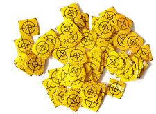 Yellow Reflective Targets/Labels (100 pcs.) - 20mm x 20mm !