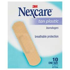 Nexcare Tan Plastic Strips Sachet 10 Pack Single Breathable Protection