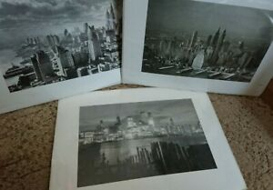 Mixed Lot x 3 Versions of Manhattan Skyline New York Collection Icon Art Print