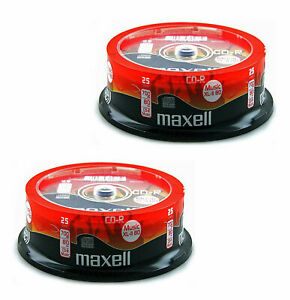Maxell CD-R 80 Mins XL-II Digital Audio Recordable Blank Discs In Spindle X 50