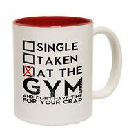 Funny Mugs - Single Taken At The Gym - Gym Work Out Sports Train NOVELTY MUG