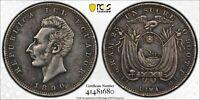 1890 TF 1 SUCRE ECUADOR (LIMA) PCGS XF40  #41481680  KM#53.3 SILVER