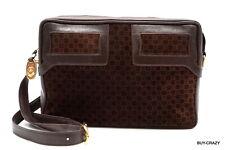 Old Gucci vintage GG shoulder bag pochette classic suede leather Brown 2288h