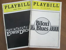 2 Playbill BILOXI BLUES Neil Simon & MYSTERY of EDWIN DROOD Rupert Holmes 1985-6