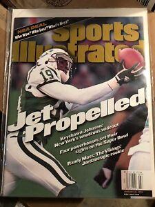 January 18 1999 Keyshawn Johnson New York Jets Sports Illustrated NO LABEL