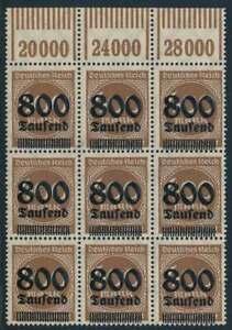 D.Reich Nr. 305 I postfrisch/**, PLATTENFEHLER, OPD HAMBURG, gepr. Infla (57906)