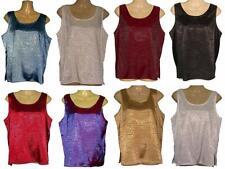 Ladies Thai Silk Sleeveless Blouses / Jacquard Weave  XL  UK Size 18 / FREE POST