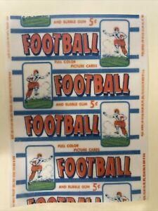 1953 Bowman Football Cards 5 Cent Wax Wrapper Reprint