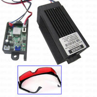 Focusable Analog + TTL 5.5W 5500mW 450nm blue laser module Engrave Free Goggles