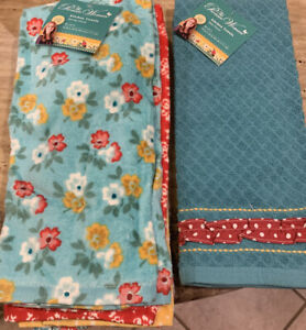 Pioneer Woman Spring Floral Kitchen Towels 4pk And Mini Floral 2pk Bundle New