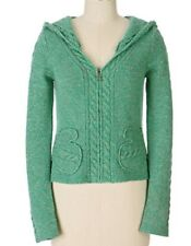 Sleeping On Snow Sweater Anthropologie Green Cardigan Mittens Pockets M