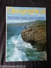 THE GEOGRAPHICAL - MAY 1972 - CHILEAN FJORDS
