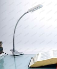 Flexible Pipe 3W LED Clamp Clip Table Light Picture Lamp Reading Spotlight Store
