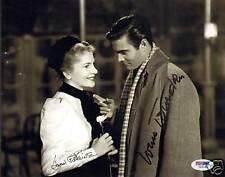 Louis Jourdan & Joan Fontaine Signed 8x10 Photo PSA/DNA