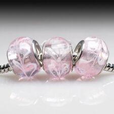 5/10pcs Murano Glass Round Beads Lampwork Charm European Bracelet Chain SFLB3