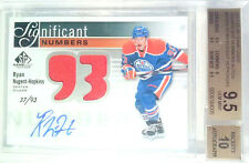 BGS 9.5 /93 RYAN NUGENT HOPKINS GAME USED SIGNIFICANT NUMBERS ROOKIE 2011 11 12