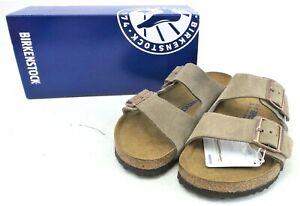 Birkenstock Unisex Genuine Arizona Suede Leather Sandals Taupe Size: 39 L8/M6