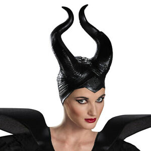 Halloween Cosplay Latex Maleficent Hat Horns Evil Queen Headpiece Headwear USA