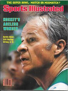 Sports Illustrated 1980 GORDIE HOWE Hartford Whalers NHL WHA Hockey NO LABEL
