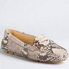 Prada Stone Grey Snakeskin Penny Loafers size 37 1/2