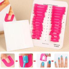 Pro Finger Case Shield Stencil Tool Nail Polish Mold Protector