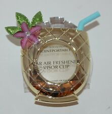 BATH & BODY WORKS PINEAPPLE DRINK SCENTPORTABLE HOLDER VISOR CLIP CAR FRESHENER