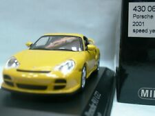 WOW EXTREMELY RARE Porsche 996 911 2001 GT2 462HP Yellow 1:43 Minichamps-Spark